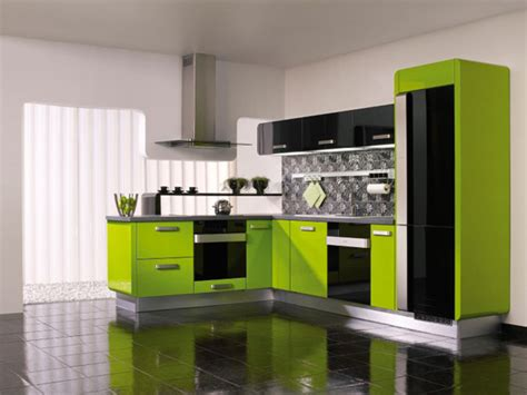 Modern Kitchen Cabinets Colors Lime Green Kitchen Design Ideas