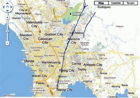 san jose pasig map deped revised list of schools near the west valley fault