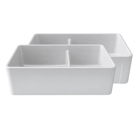 Home Depot Farmhouse Sink by Latoscana Reversible Farmhouse Fireclay 33 In