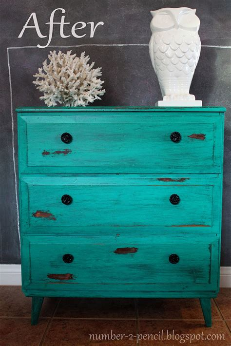 Turquoise Dresser by Chippy Turquoise Dresser Vintage Makeover No 2 Pencil