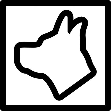 shapes outline free download dog shape outline in a square icons free download