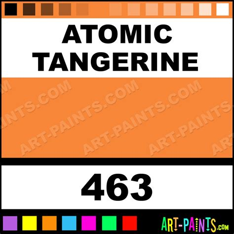 Atomic Tangerine | atomic tangerine superwriters ceramic paints 463
