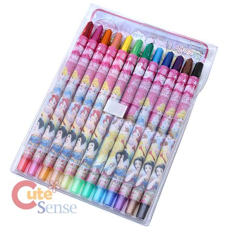 Pencil Set Princess disney princess coloring pencil 12pc twist up pen set stationery set ebay