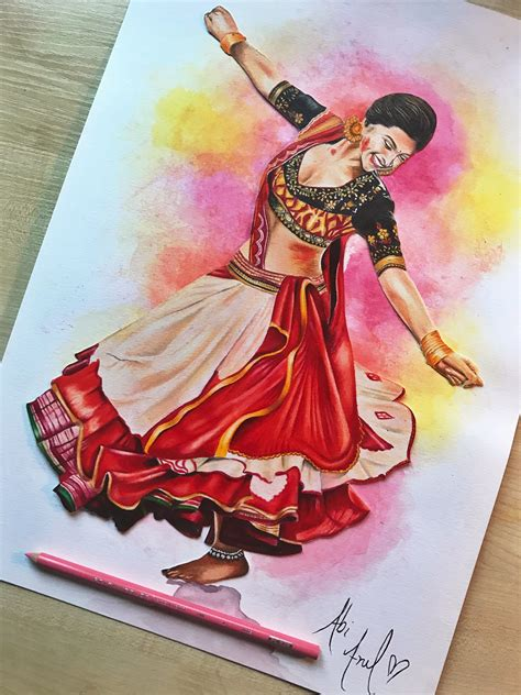 deepika padukone drawing deepika padukone ram leela drawing prismacolors colouring