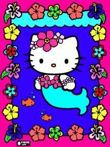 hello kitty mer coloring page printable hello kitty mer