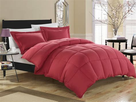 red comforter set queen brick red down alternative comforter set