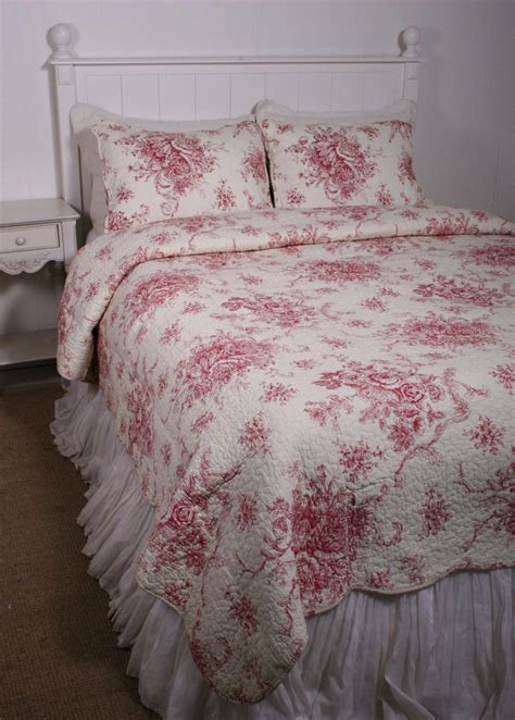 french country toile bedding ballard french country style red toile quilt bedroom