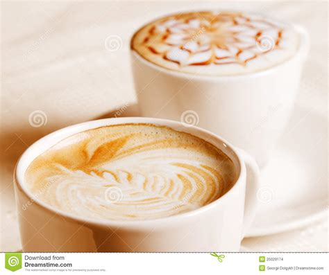 artistic coffee coffee cup with artistic decoration stock images image 25029174
