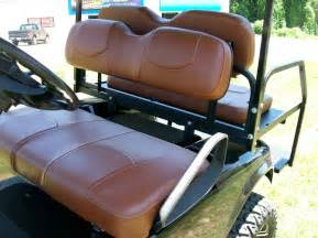 Club Car Custom Seat Covers Club Car Precedent Rear Flip Seat And Custom Seat Cover