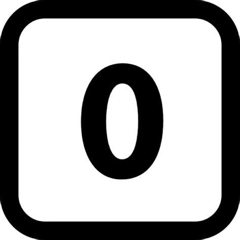 Numero Zero numero zero in un quadrato con angoli arrotondati