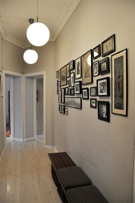 picture wall   long narrow hallway picture wall
