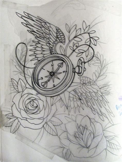 rose tattoo with wings best 25 clock and ideas on