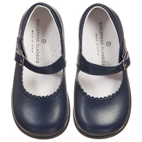 childrens shoes children s classics navy blue leather shoes