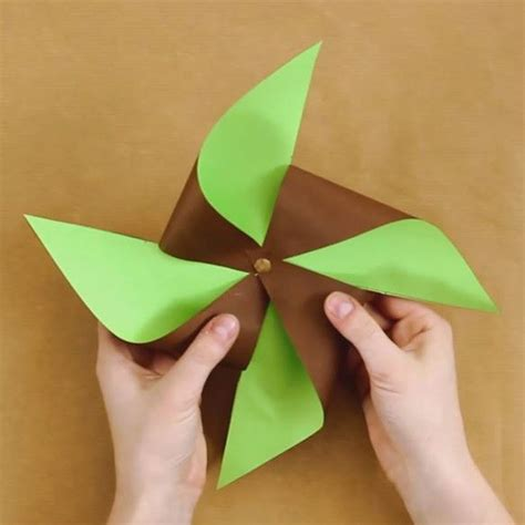 Colour Paper Craft - crafts and activities two colored paper pinwheel