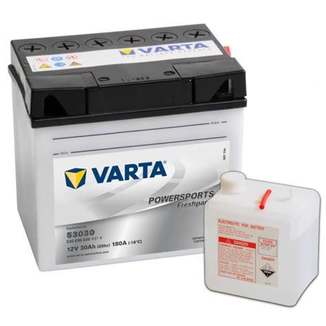 Varta Motorradbatterie 53030 by Batterie Moto Varta 12v 30ah 53030
