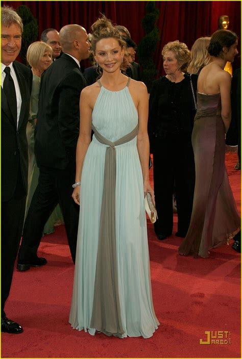 Oscars Carpet Calista Flockhart by Calista Flockhart Oscars 2008 Photo 953281 Calista