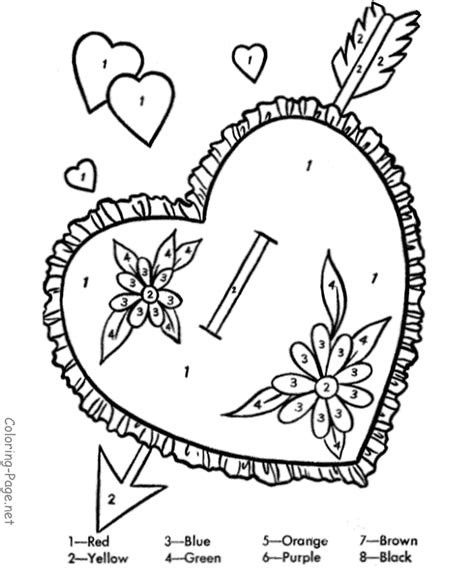 color by number valentine coloring pages valentine coloring pages color by number