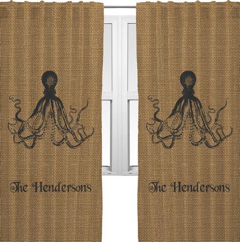 printed burlap curtains octopus burlap print curtains 40 quot x63 quot panels unlined