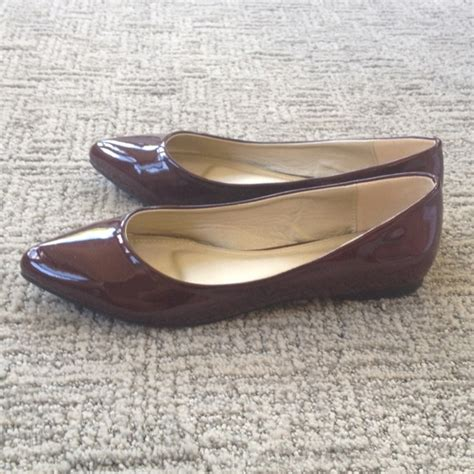65 ollio shoes pointed toe flats burgundy wine