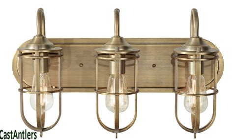 vintage bathroom lighting ideas retro vintage industrial edison 3 light bathroom vanity