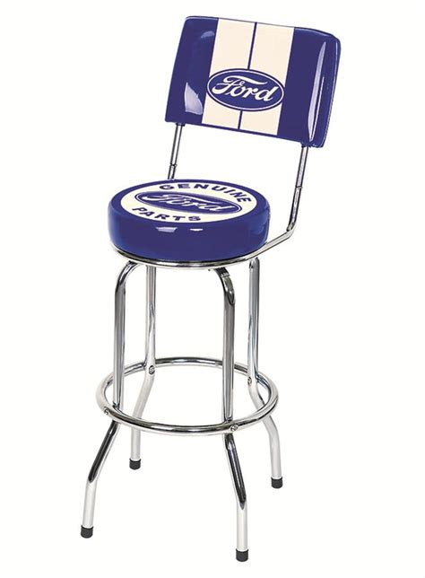 White Parts In Stool by Ghh Frd 42200 Bar Stool Genuine Ford Parts Blue Oval Logo