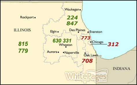 Illinois Area Code Map by 630 Area Code Submited Images