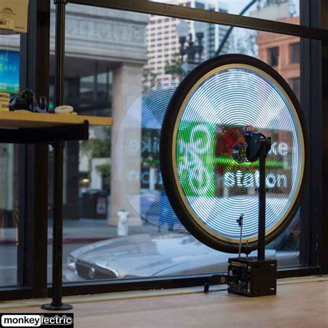 led light window display monkey light bike lights