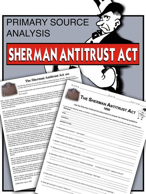 sherman antitrust act section 1 418 best images about apush per 7 1890 1945 on pinterest