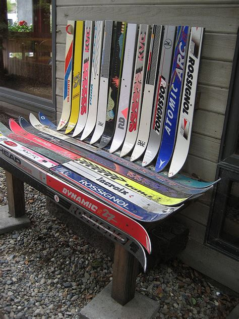ski bench top 5 recycled ski furniture hack ideas scraphacker com