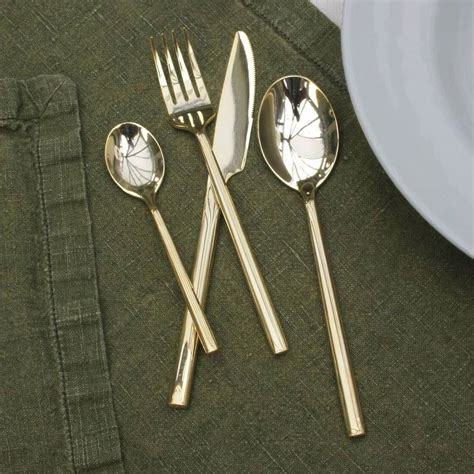 luxury cutlery luxury cutlery luxury sixteen piece shiny brass cutlery