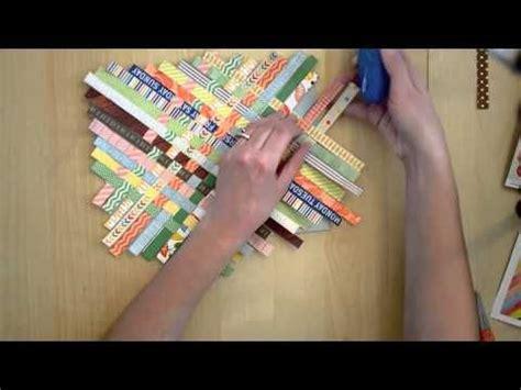 technique weaving paper scrap strips tutorial