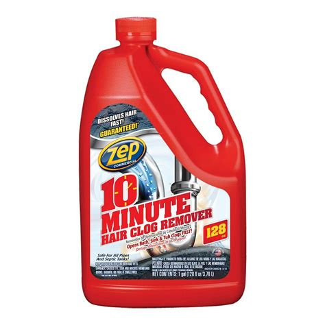 Liquid For Clogged Sink by Zep 1 Gal 10 Minute Hair Clog Remover Zhcr128ng The
