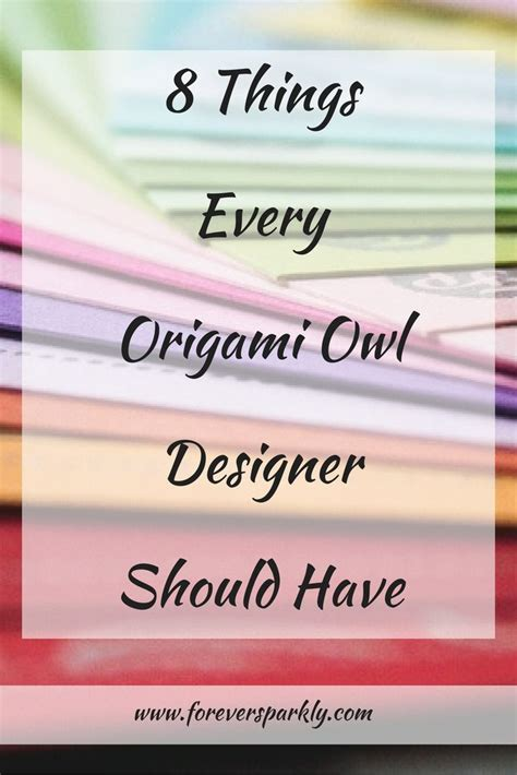 8 Things Id Like To About by 8 Things Every Origami Owl Designer Should Origami