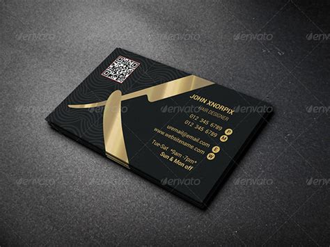 20 barber business cards free psd eps ai indesign