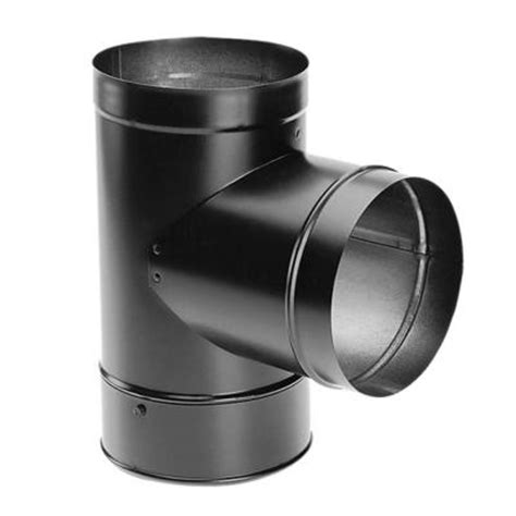 duravent durablack 6 in chimney stove pipe with clean