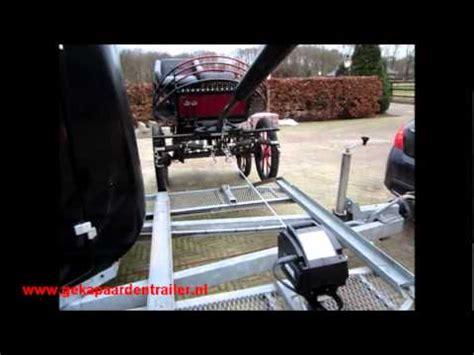 elektrische lier boottrailer koets op koetstrailer dmv elektrische lier youtube