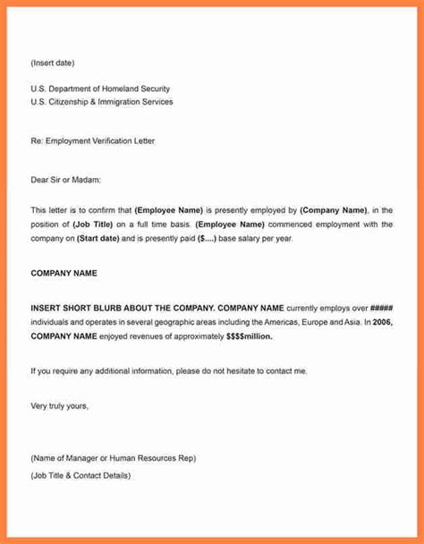 Employment Letter Of Sle employment verification letter sle salary 28 images