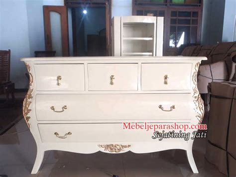 Nakas Duco Ivory Laci 6 Drawer Bufet Meja Makan Dipan Lemari Sofa nakas bombay baroque mebel jepara shop