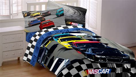 car bedding nascar racing bed sheet set race car bump drafting