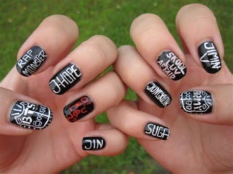 kpop btsbangtan boys nail art youtube kpop nails en