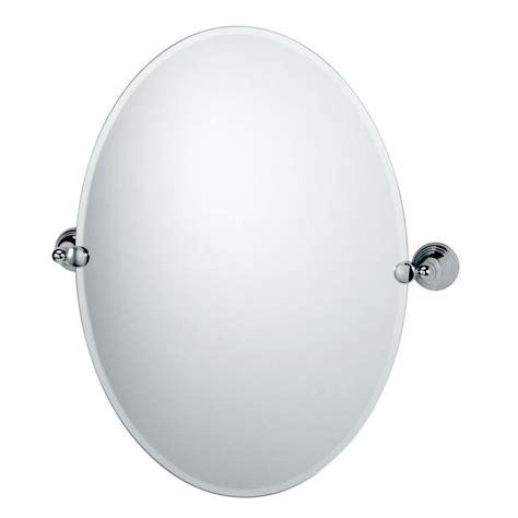 Shop Gatco Charlotte 19 5 In X 26 5 In Chrome Oval Gatco Bathroom Mirrors