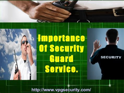 importance of security guard service