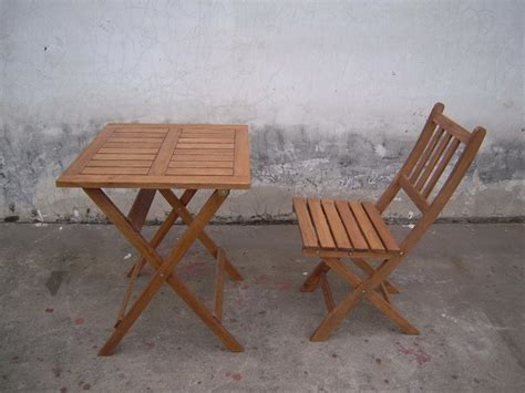 Wood Folding Table And Chairs by China Outdoor Wood Table Chair Folding A China Outdoor Furniture Garden Furniture