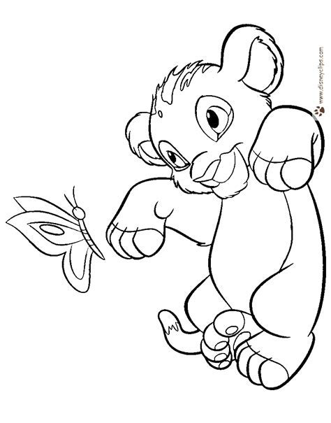 The Lion King Coloring Pages Disney Book