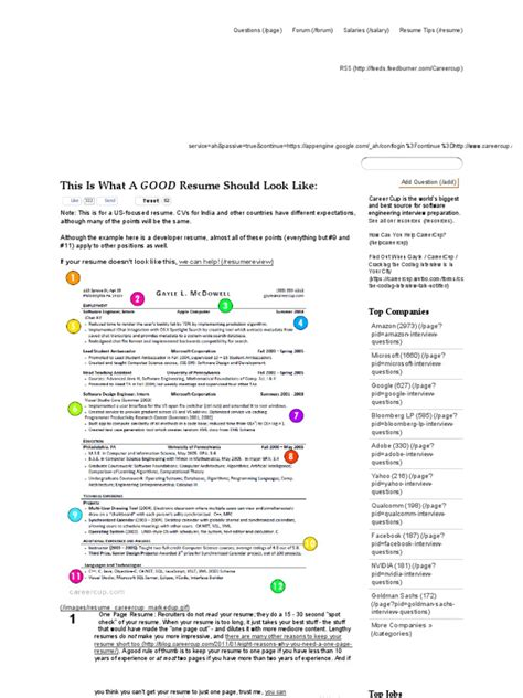Careercup Resume by Careercup One Page Resume Functional Fill Out Resume