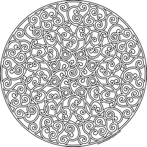 free coloring pages of heart mandalas