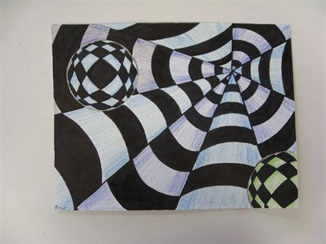 art projects art with mrs smith op art spheres cones