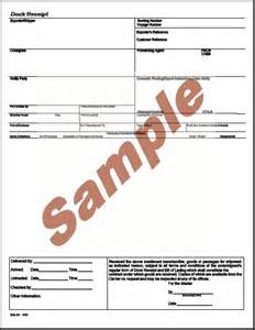 Cargo Receipt Template Global Wizard Dock Receipt