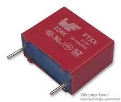 polypropylene capacitor farnell 890334023023cs wurth elektronik capacitor 0 1 181 f 310 vac pp polypropylene 177 10