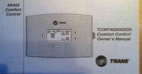 comfort stat manual trane comfort control xr402 thermostat